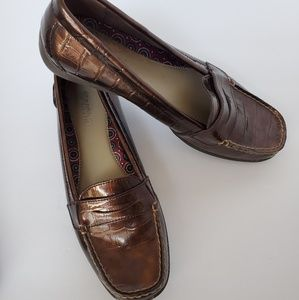 Sperry top sider patent leather croc print size 8